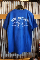 VANS X ANTI HERO ON THE WIRE SS T-SHIRT (ROYAL BLUE)