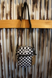 VANS STREET READY CROSSBODY BAG (BLACK/WHITE CHECKERBAORD)