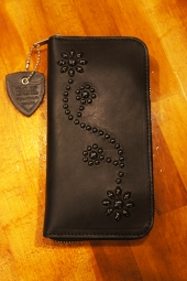 HTC BLACK #24 Black Zipper Long Wallet  (BLACK)