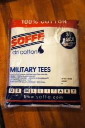 SOFFE 100% COTTON RINGSPUN TEE SHIRT (WHITE/OLIVE/BLACK 3P PACK)