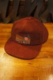 Barney Cools Beach Baseball Cap (Vintage red cord)