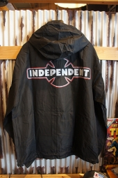 INDEPENDENT O.G.B.C. PATCH L/S HOODED WINDBREAKER JACKET (BLACK)