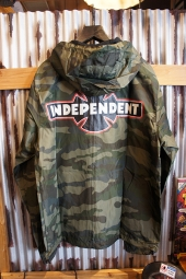 INDEPENDENT O.G.B.C. PATCH L/S HOODED WINDBREAKER JACKET (CAMO)