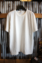LOS ANGELES APPAREL 8.5OZ GARMENT DYE CREW NECK TEE (O.WHITE)