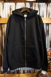 LOS ANGELES APPAREL 14OZ. HEAVY FLEECE ZIP UP HOODED (BLACK)