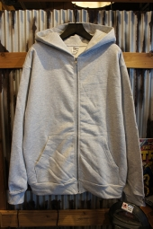 LOS ANGELES APPAREL 14OZ. HEAVY FLEECE ZIP UP HOODED (ASH)