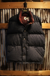 Crescent Down Works Italian Vest Black Denim Ver.