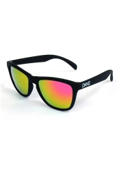 DANG SHADES ORIGINAL Black Soft x Pink Fire Mirror サングラス
