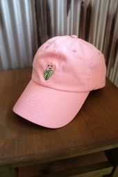 RIPNDIP NERMAL LEAF DAD HAT (PINK)