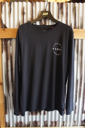 BANKS RECORD L/S TEE SHIRT (DIRTY BLACK)