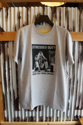 ANTIHERO STRESSED OUT T-SHIRT (GREY HEATHER)