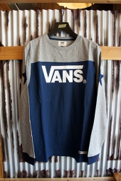 VANS Bi-Color Football L/S Tee (NAVY)