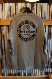 BRIXTON SOTO CREW FLEECE (HEATHER GRAY/BLACK)