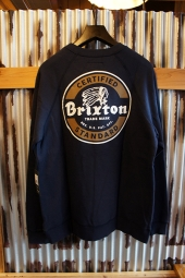 BRIXTON SOTO CREW FLEECE (WASHED NAVY)