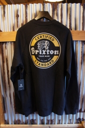 BRIXTON SOTO CREW FLEECE (BLACK/GOLD)