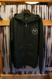 BRIXTON WHEELER ZIP HOOD (FOREST GREEN)