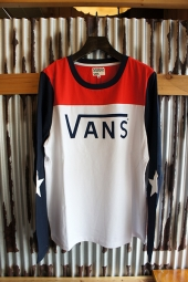【LADY'S ITEM】VANS Bi-Color Football Girl L/S Tee (TRICOLOUR)