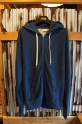 Champion REVERSE WEAVE ZIP HOODED SWEAT  (STONE WASH BLUE)