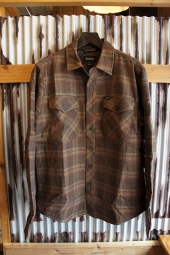 BRIXTON MANCHESTER L/S FLANNEL JACKET (BROWN)