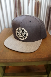 BRIXTON RIVAL SNAPBACK CAP (Light Grey Heather/Charcoal Heather)