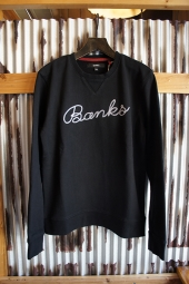 BANKS SCRIPT FLEECE (DIRTY BLACK)