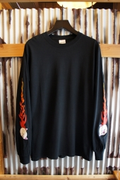 RIPNDIP BLAZING LONG SLEEVE TEE (BLACK)