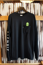 RIPNDIP LORD ALIEN LONG SLEEVE TEE (BLACK)