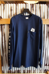 RIPNDIP LORD NERMAL LONG SLEEVE POCKET TEE (NAVY)
