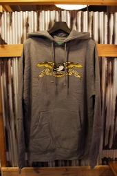 ANTIHERO EAGLE L/S PULLOVER HOODED SWEATSHIRT (GUNMETAL HEATHER)