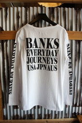 BANKS BRIDGE L/S TEE SHIRT (OFF WHITE)