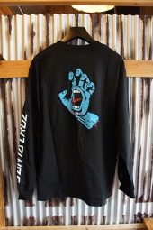 SANTA CRUZ SCREAMING HAND L/S T SHIRT (BLACK)