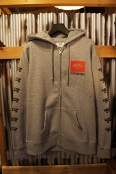 VANS SK8BOX Zip-Up Hooded Sweat (HEATHER GRAY)