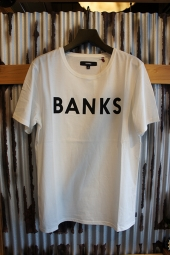 BANKS CLASSIC TEE SHIRT (OFF WHITE)