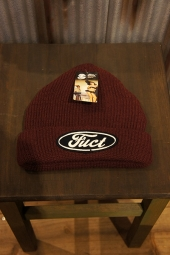 FUCT SSDD F OVAL WATCH CAP (BURGUNDY)