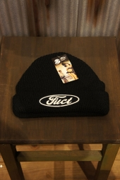 FUCT SSDD F OVAL WATCH CAP (BLACK)