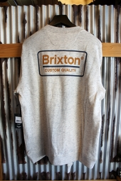 BRIXTON PALMER CREW FLEECE (HEATHER STONE)