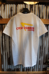 CYCLE ZOMBIES ANIMAL STYLE Premium S/S T-Shirt (WHITE)