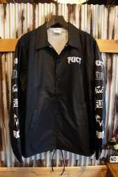 FUCT SSDD MULTI PRINT COACH JACKET (BLACK)