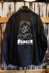 FUCT SSDD O.G BEAR COACH JACKET (BLACK)