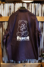 FUCT SSDD O.G BEAR COACH JACKET (BURGUNDY)