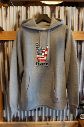 FUCT SSDD HORNED HAND PULLOVER HOODIE (GRAY)