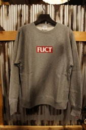 FUCT SSDD RED LOGO CREWNECK SWEAT (GRAY)