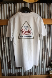 BRIXTON CUE S/S STANDARD TEE (WHITE)