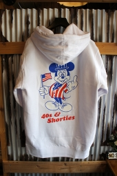 40s & Shorties Hey There Pullover Hoodie (White)