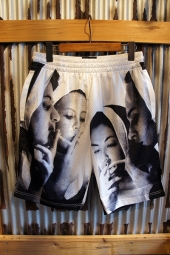 40s & Shorties Nun Basketball Shorts (White/Black)